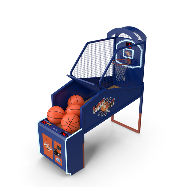 Games: Arcade Basketball Machine with Balls PNG & PSD Images