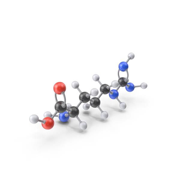 Arginine Molecule PNG & PSD Images