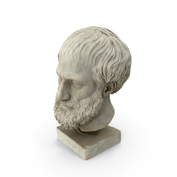 Aristoteles Head Sculpture PNG & PSD Images
