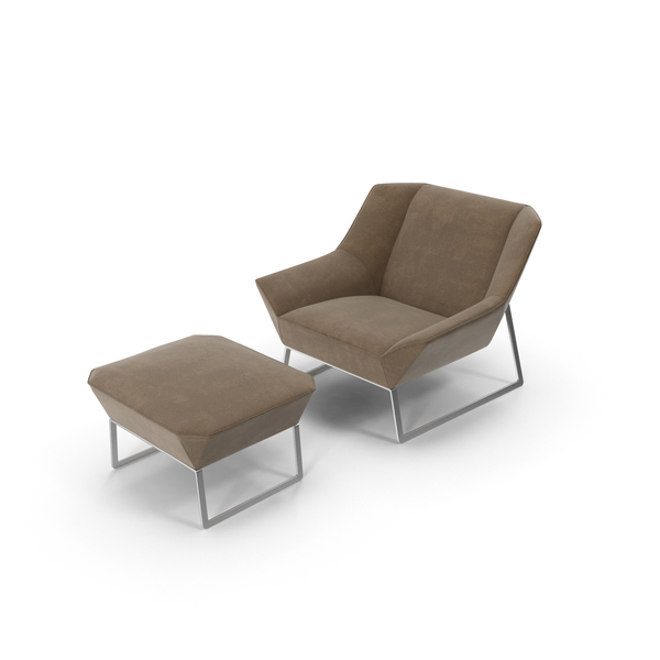 Arm Chair: Armchair and Ottoman Object