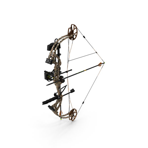 Armed Hunting Compound Bow Bear Cruzer G2 Camo PNG & PSD Images