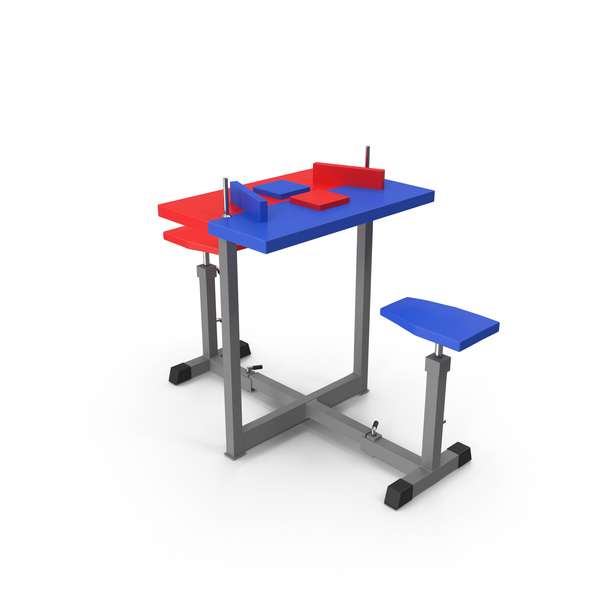 Armwrestling Table Blue and Red PNG & PSD Images