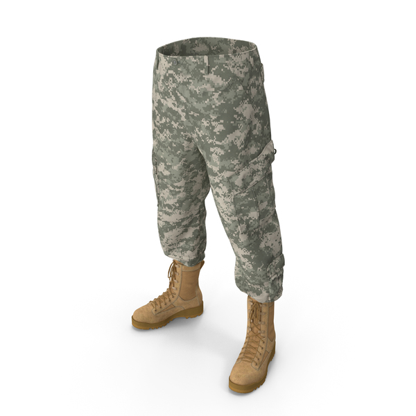 Army ACU Pants with Boots PNG & PSD Images
