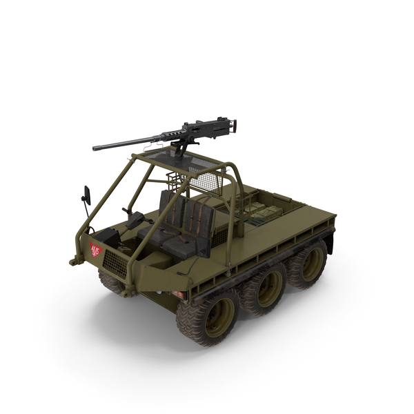 Army ATMP 6x6 with Machine Gun PNG & PSD Images