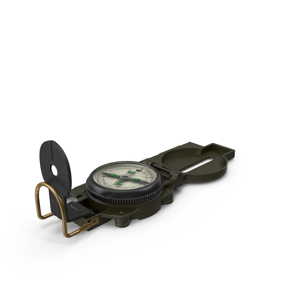 Army Pocket Multifunction Compass PNG & PSD Images