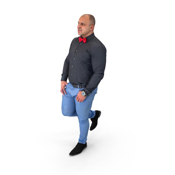 Man: Arnold Business Walking Pose PNG & PSD Images