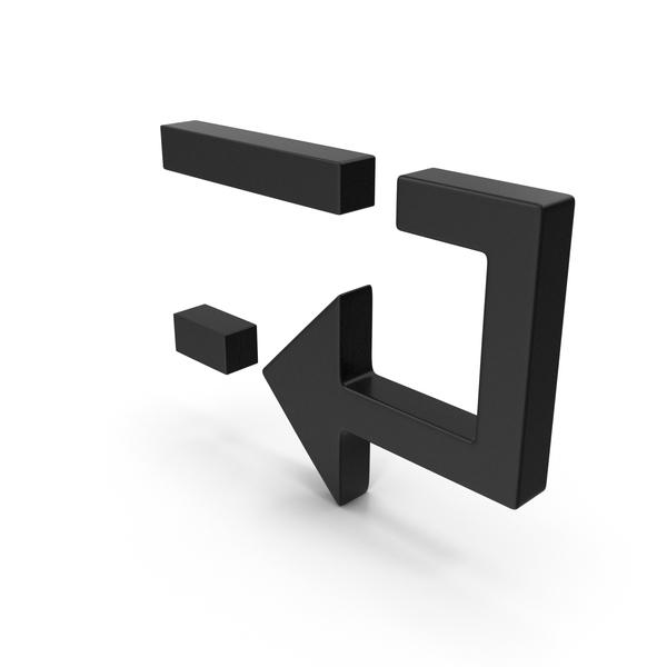 Symbols: Arrow Black PNG & PSD Images