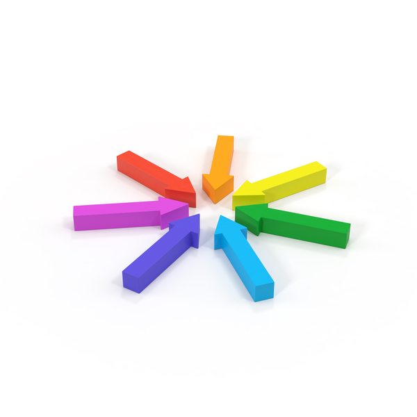 Directional: Arrow Circle Rainbow Object