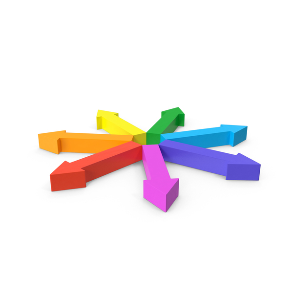 Arrow Circle Rainbow Outwards PNG & PSD Images