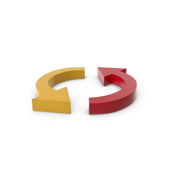 Directional: Arrow Red and Yellow PNG & PSD Images