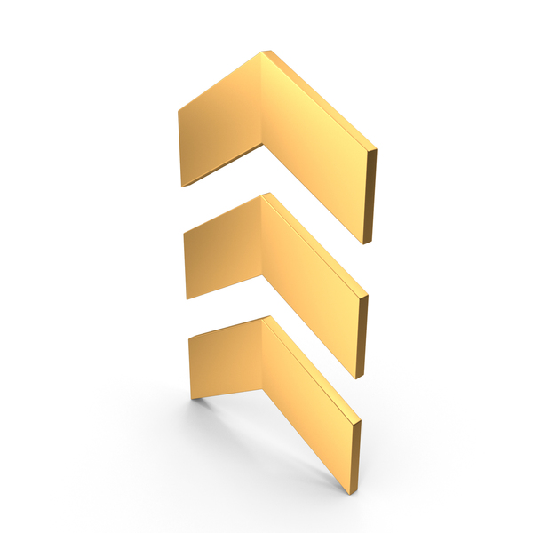 Arrow Symbol Gold PNG & PSD Images