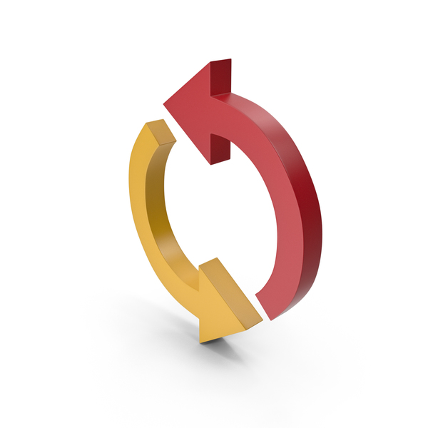 Directional: Arrow Yellow and Red PNG & PSD Images