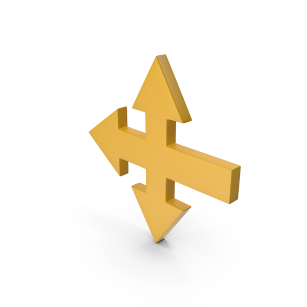 Directional: Arrow Yellow PNG & PSD Images