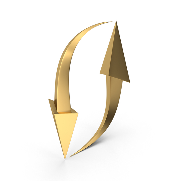 Arrows Gold PNG & PSD Images