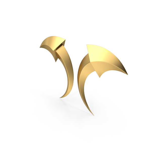 Directional Arrow: Arrows Gold PNG & PSD Images