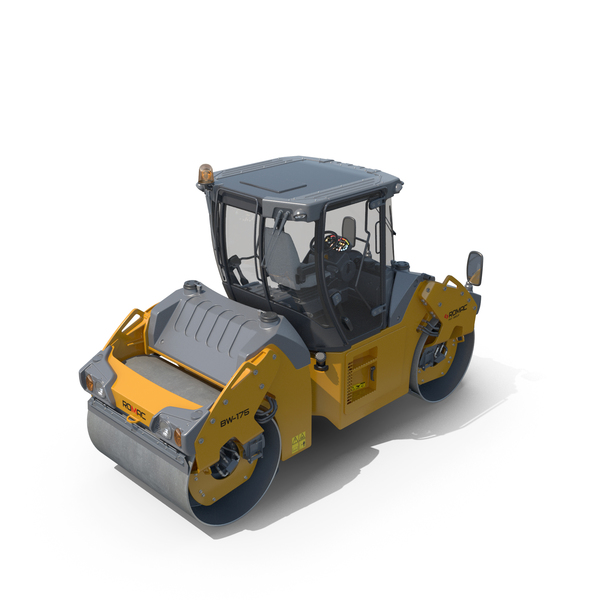 Articulated Tandem Road Roller Generic PNG & PSD Images