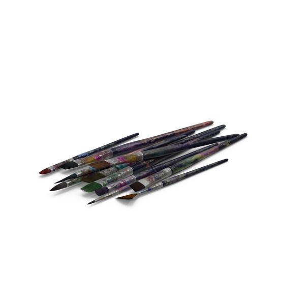 Artist Brush Set Object