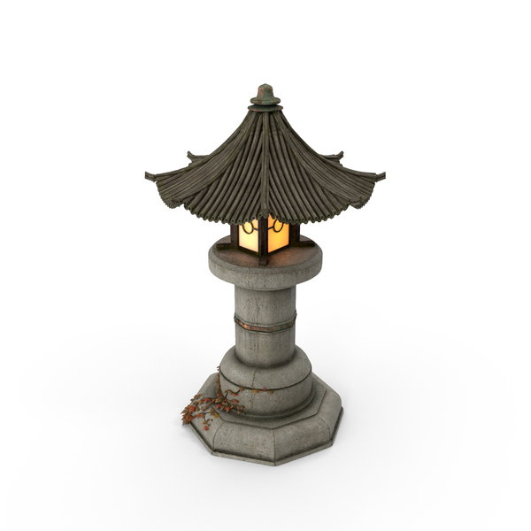 Asian Garden Lamp PNG & PSD Images