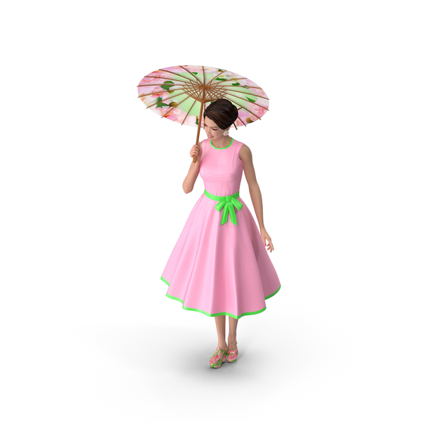 Woman: Asian Women Wear Summer Fashion Dress PNG & PSD Images