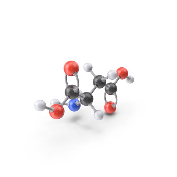 Aspartic Acid Molecule PNG & PSD Images