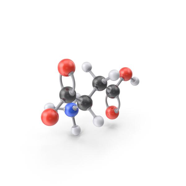 Aspartic Acid Zwitterion Molecule PNG & PSD Images