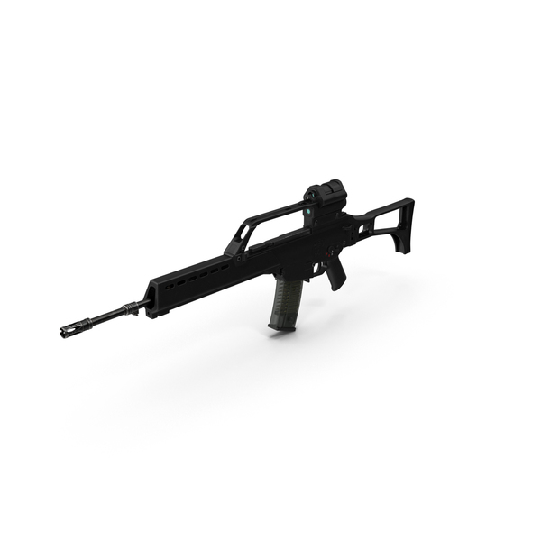 Assault Rifle HK G36 PNG & PSD Images