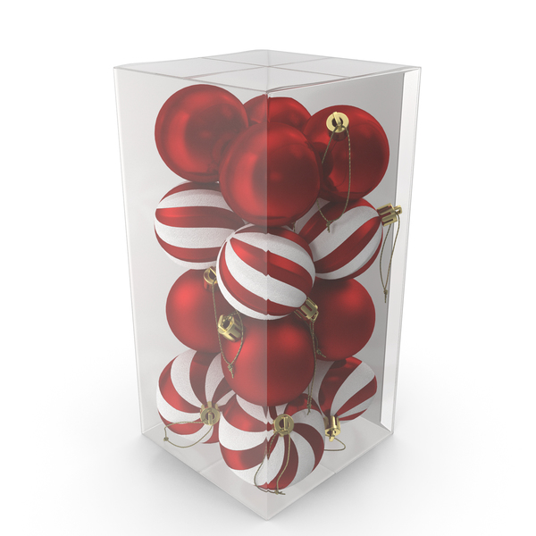 Assorted Christmas Ball Ornaments Pack PNG & PSD Images