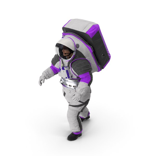 Astronaut Wearing xEMU Walking Pose PNG & PSD Images