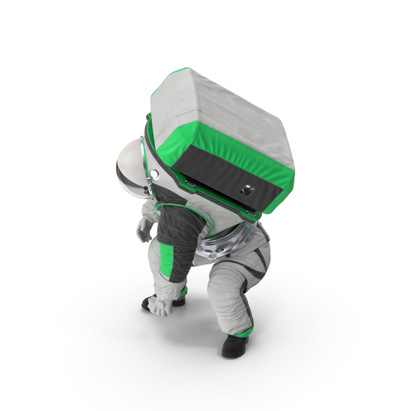 Astronaut Wearing xEMU Working Pose PNG & PSD Images