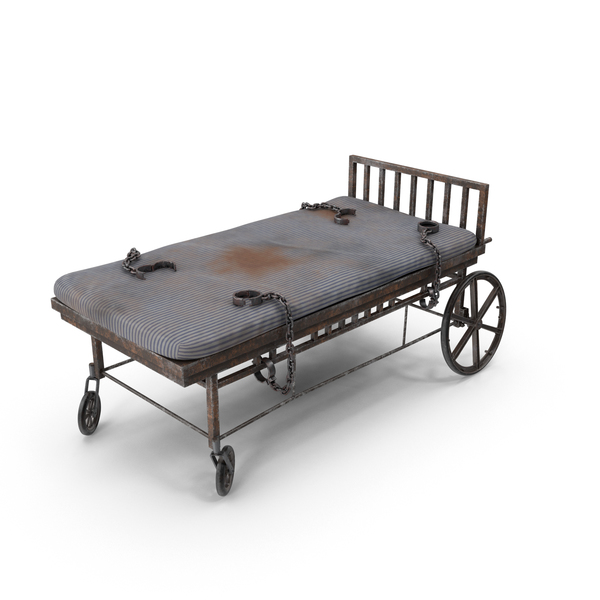 Asylum Bed with Restraints PNG & PSD Images