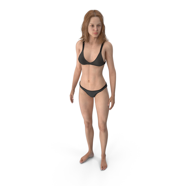 Athletic Woman Standing PNG & PSD Images