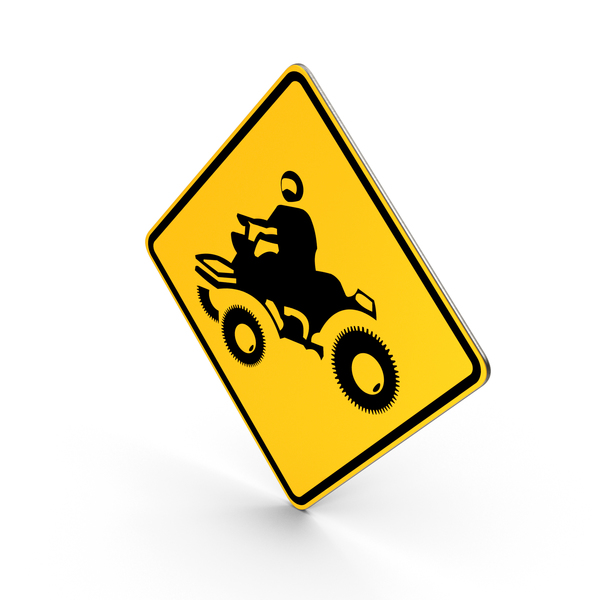 ATV Crossing Road Sign PNG & PSD Images