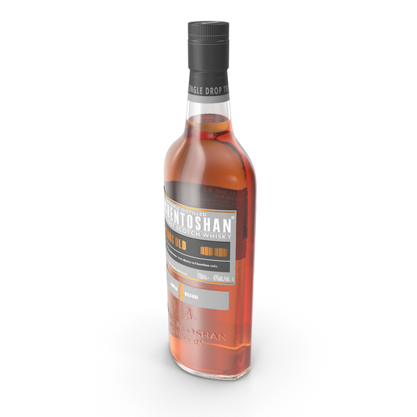 Whiskey: Auchentoshan 21 Years Old Whisky Bottle PNG & PSD Images