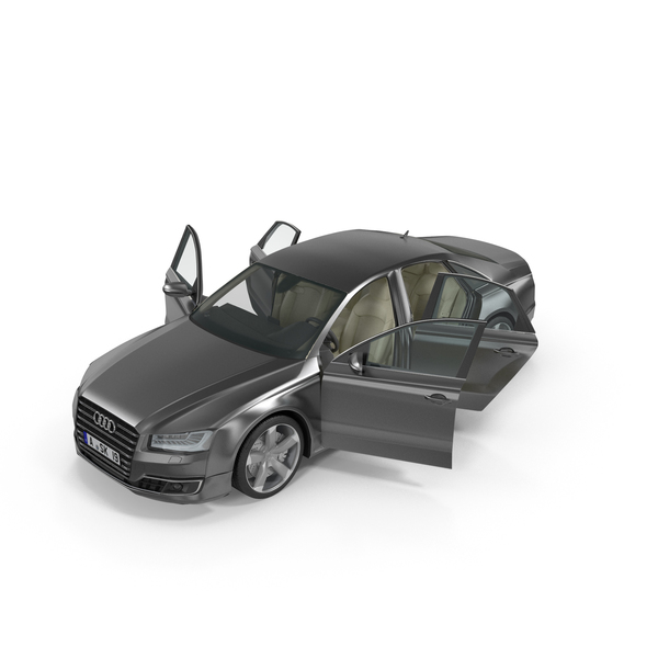 Car: Audi A8 Opened Doors PNG & PSD Images