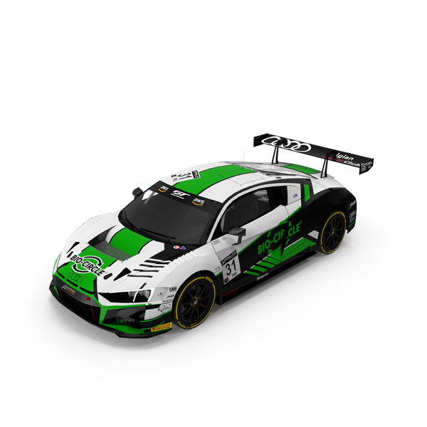 Audi R8 LMS GT3 Belgian Audi Club Team number 31 PNG & PSD Images