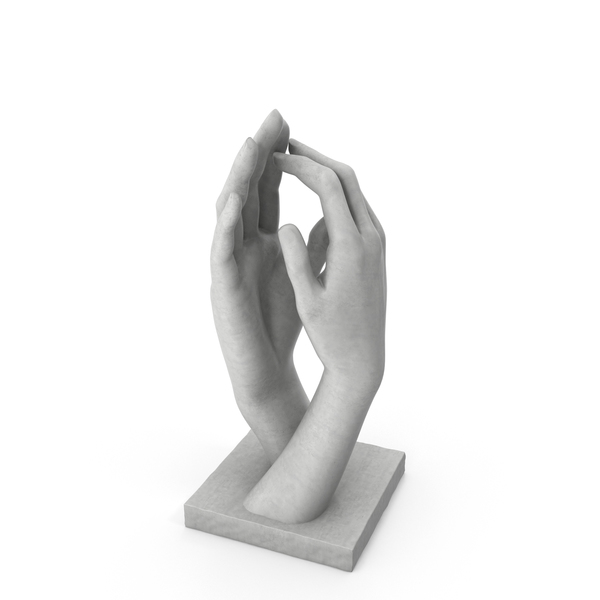 Auguste Rodin Hands Sculpture PNG & PSD Images