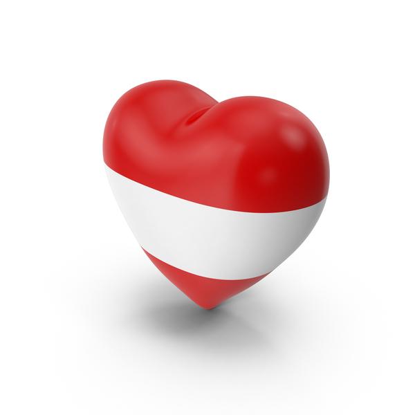 Austria Flag Heart PNG & PSD Images