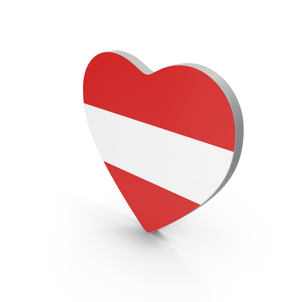 Austria Heart Flag PNG & PSD Images