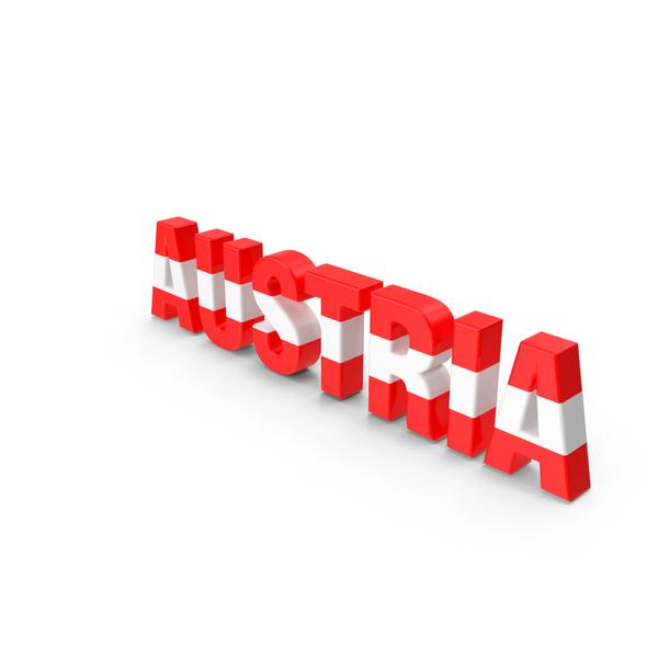 Austria Text PNG & PSD Images