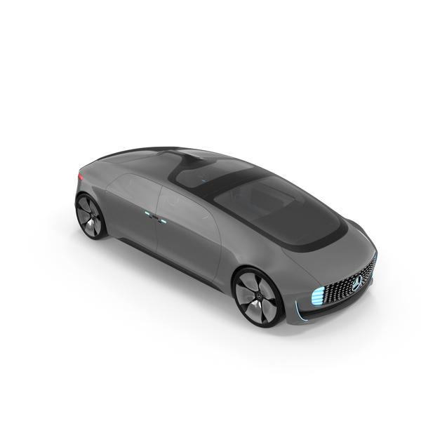 Alternative Fuel Vehicle: Autonomous Concept Car Mercedes Benz F015 PNG & PSD Images