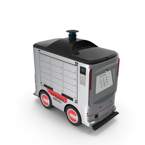 Autonomous Delivery Service Robot PNG & PSD Images