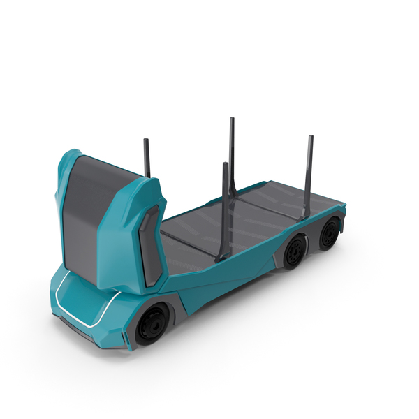 Autonomous Electric Logging Truck PNG & PSD Images