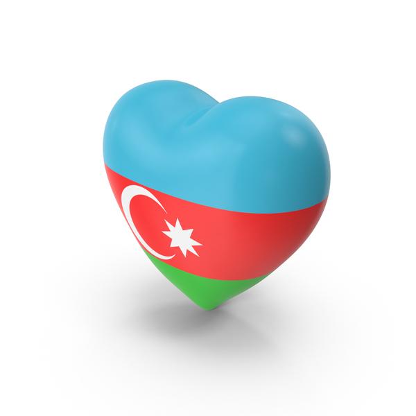 Azerbaijan Flag Heart PNG & PSD Images