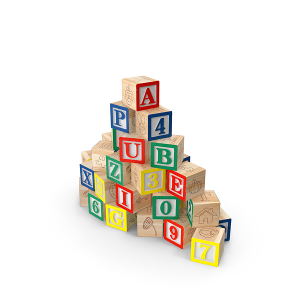Baby Alphabet Wooden Blocks PNG & PSD Images