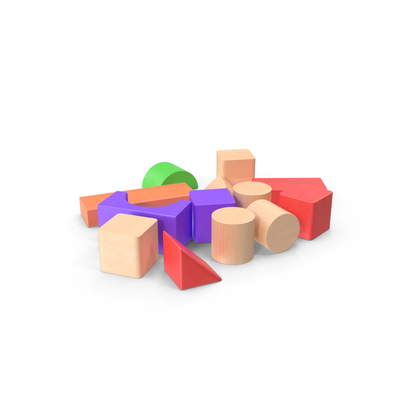 Block: Baby Building Blocks Scattered PNG & PSD Images