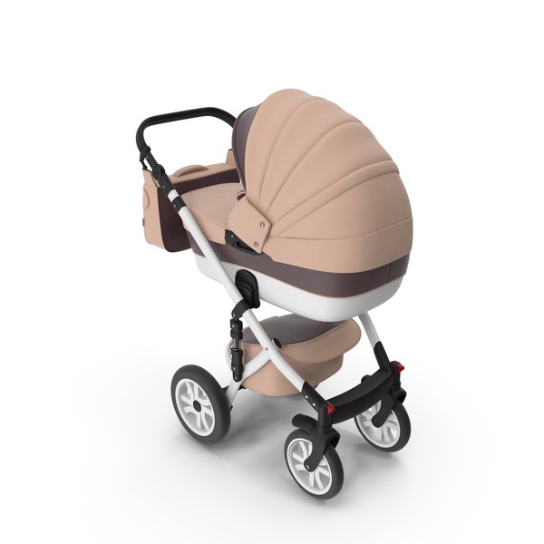 Baby Stroller Beige Brown PNG & PSD Images
