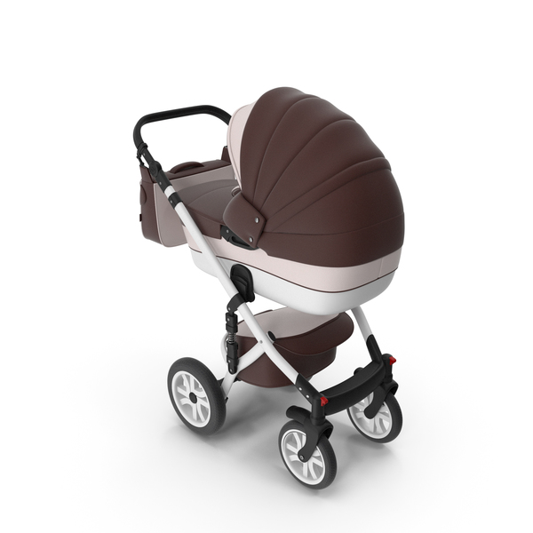 Baby Stroller Brown PNG & PSD Images