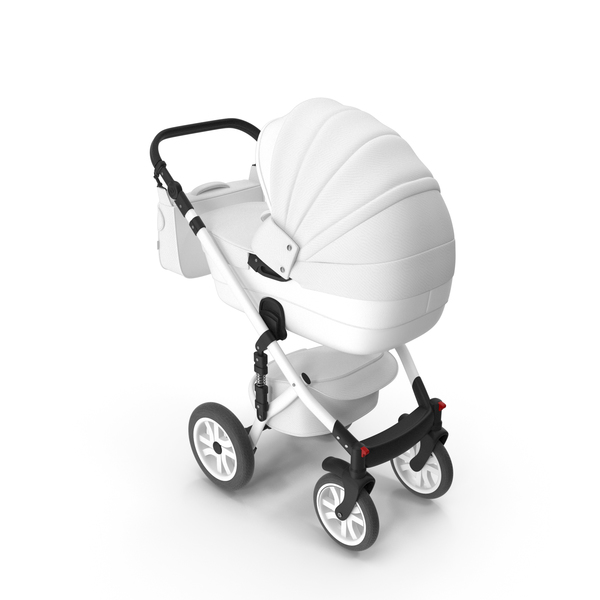 Baby Stroller White PNG & PSD Images