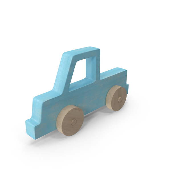 Baby Wooden Car Blue PNG & PSD Images