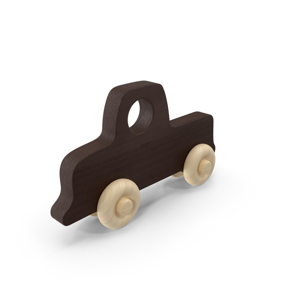 Toy: Baby Wooden Car Dark Brown PNG & PSD Images